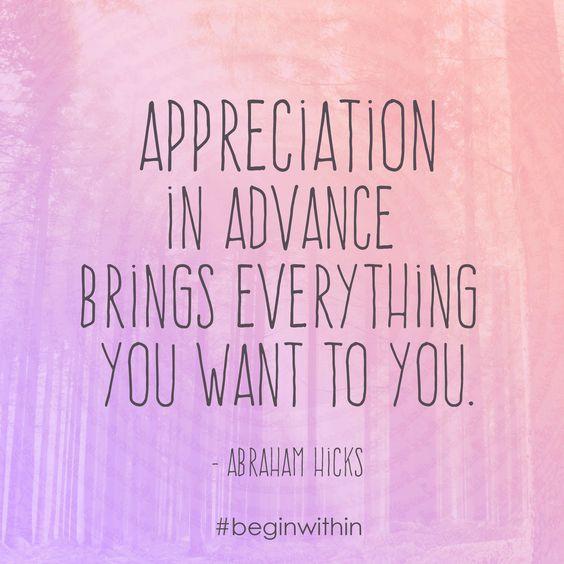 met dank aan Abraham Hicks en #beginwithin